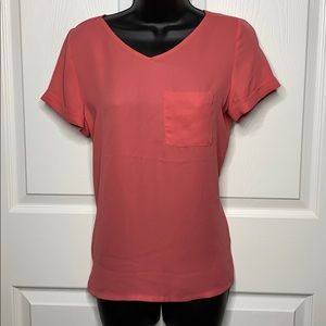NWT Maurices pink zipper back top